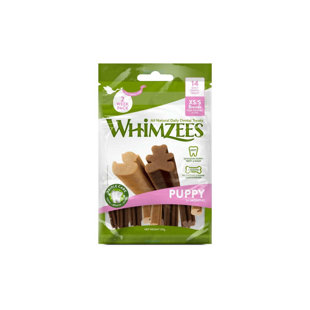 Whimzees Puppy Value Bag XS/S Pose