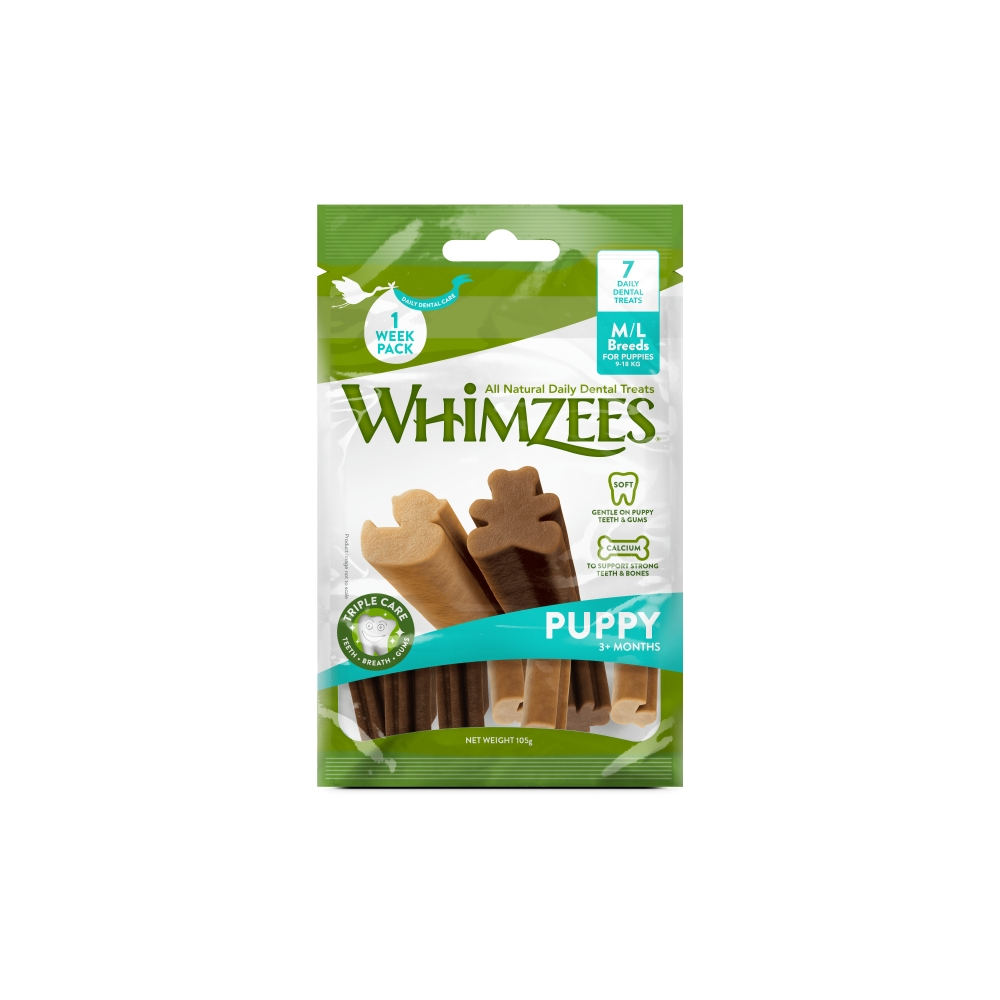 Whimzees Puppy Value Bag M/L Pose