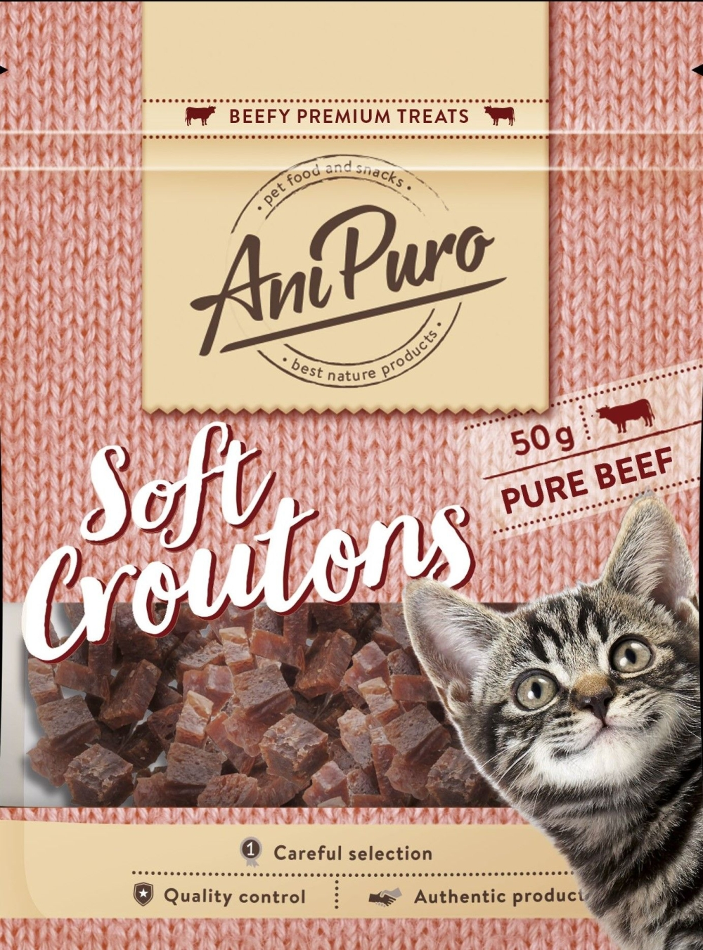 Anipuro Soft Croutons Beef 50gr